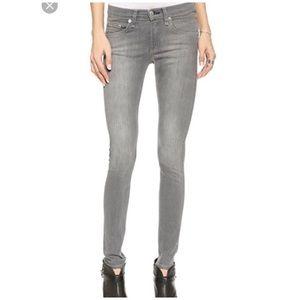 Rag & Bone • Skinny Fit Grey Lightwash Jean